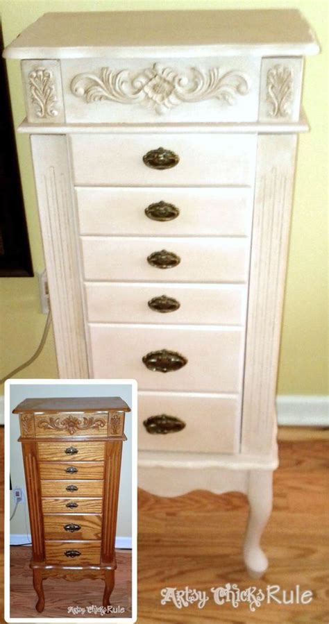 chalk paint jewelry armoire a collection of quot before after quot furniture pieces