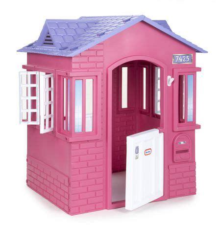 cozy cottage playhouse tikes 174 princess cottage playhouse pink walmart ca