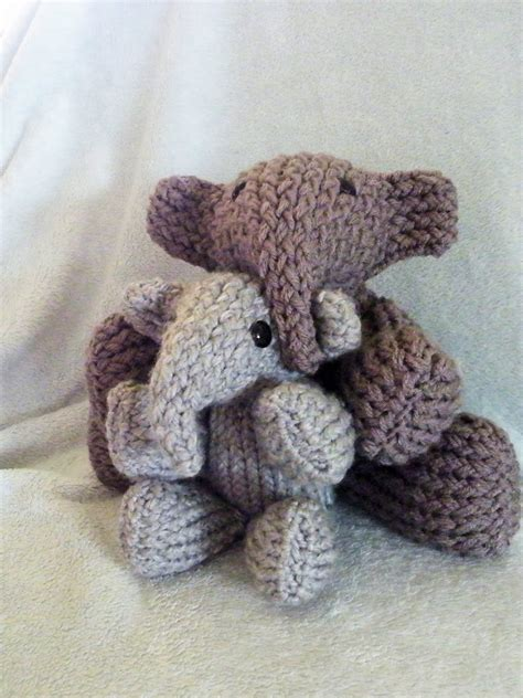 how to knit a stuffed animal elephant loomahat