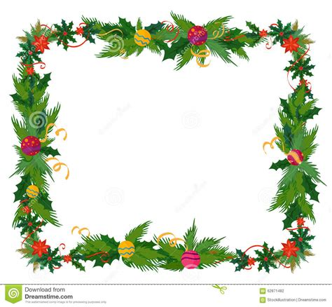 frame decorations merry border and decoration frame stock vector