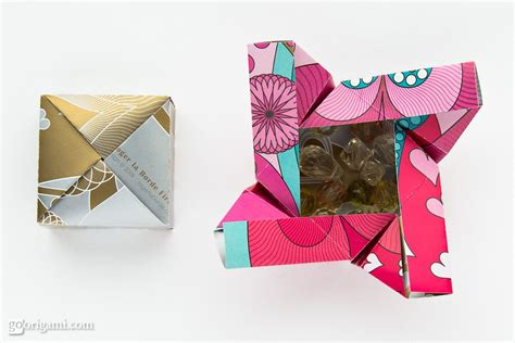 easy origami gift box origami boxes by robin glynn and sprung go origami