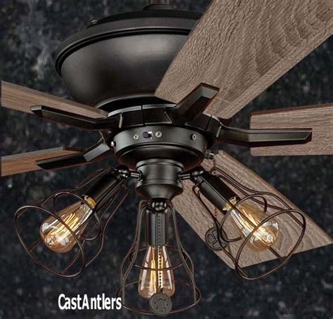 ceiling fan with cage light 25 best ideas about rustic ceiling fans on