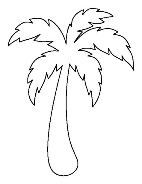 small tree pattern palm tree pattern use the printable outline for crafts