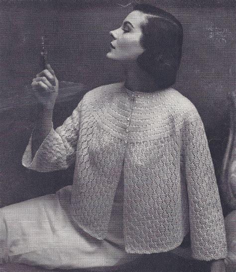 knitted bed jackets free patterns sweater pattern yoke crochet
