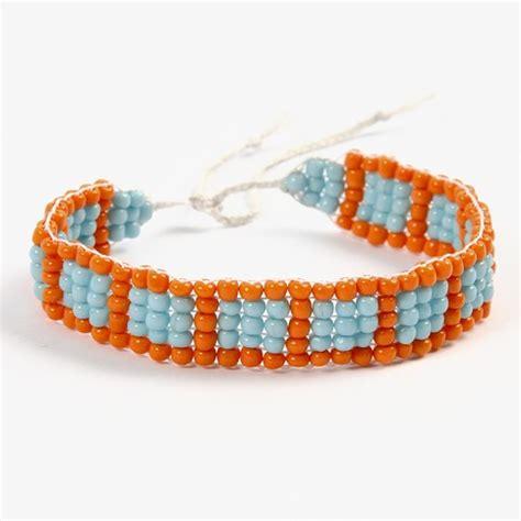 bead loom thread a bracelet woven on a bead loom