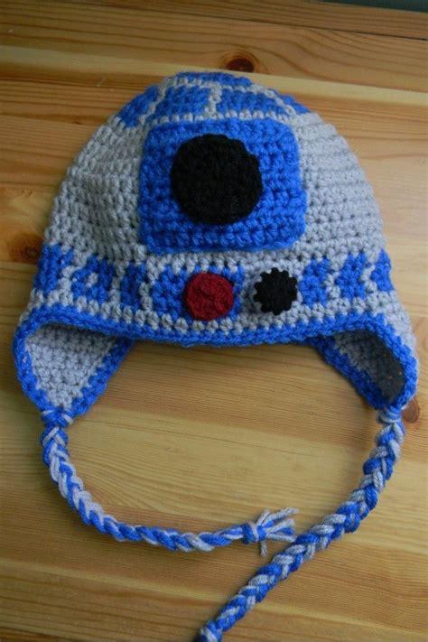 r2d2 hat knitting pattern free pattern nesting sticks crocheted r2d2 earflap hat
