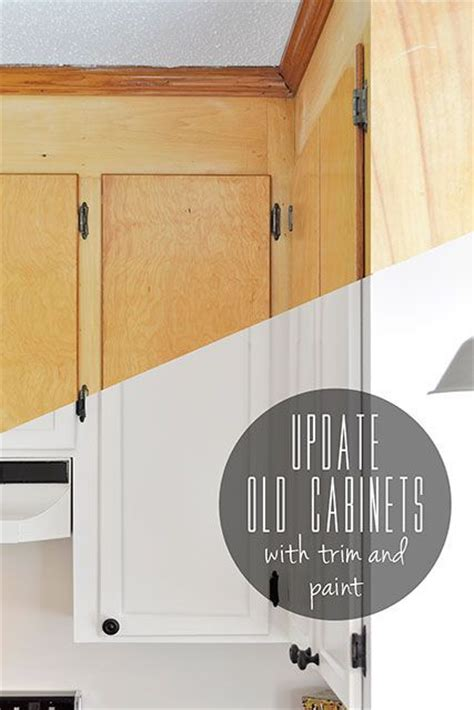 painting ideas flat kitchen cabinet doors update flat front cabinets by adding trim to the doors
