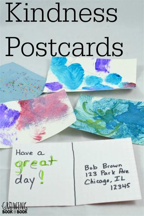 kindness crafts for writing activities kindness postcards random acts
