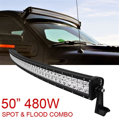 in led light bar 50 quot inch 480w spot flood combo cree curved led light bar