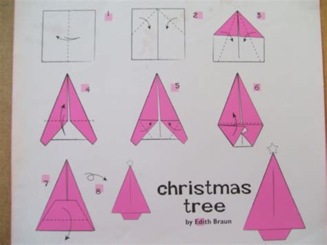 origami weihnachtsbaum anleitung simple origami trees the craft fantastic