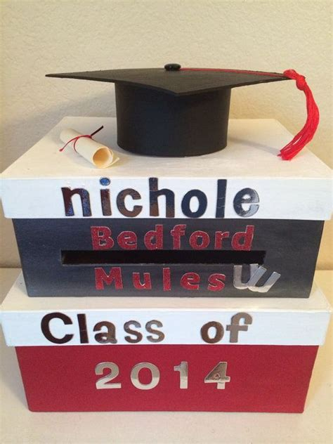 how to make a graduation card box 25 best ideas about graduation card boxes on