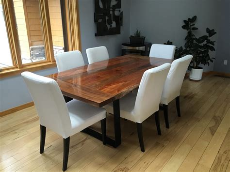 slab dining table neal s slab dining table the wood whisperer