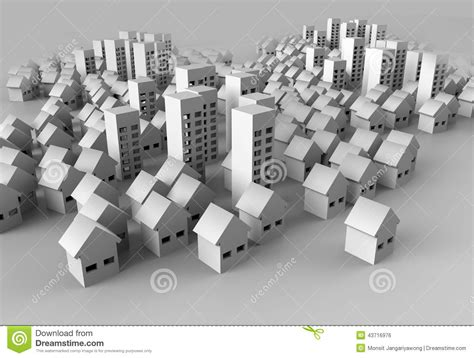 paper craft city edificio di papercraft illustrazione di stock immagine di