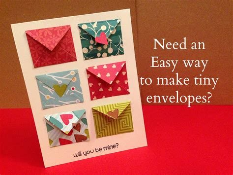 how to make envelopes for cards how to make tiny envelope and a card tutorial