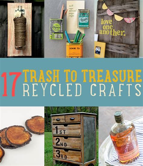 trash to treasure crafts for trash to treasure 17 recycled arts crafts projects