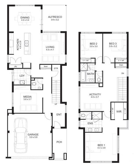 3 bedroom 2 story house plans 2 storey 3 bedroom house plans homes floor plans