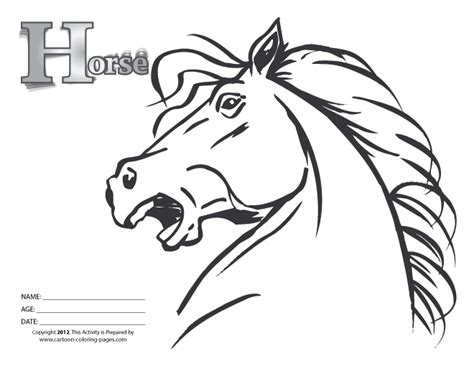 free horses head coloring pages