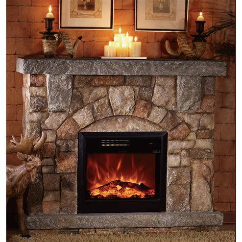 Home Depot Electric Fireplaces by Product Unifire Polystone Electric Fireplace With Mantel