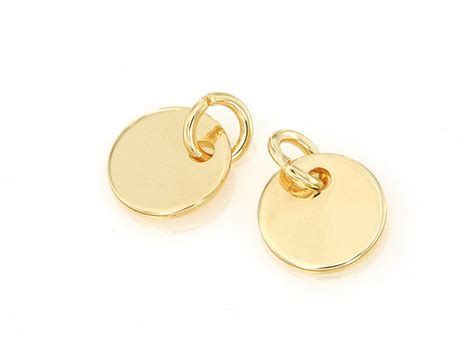 gold ring blanks for jewelry 14k gold plated sting blank jewelry tag cycle blank disc