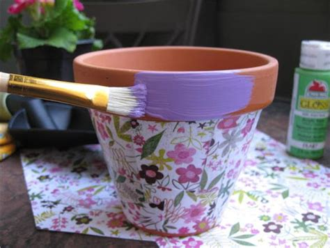 decoupage clay pots ideas planet how to decoupage flower pots