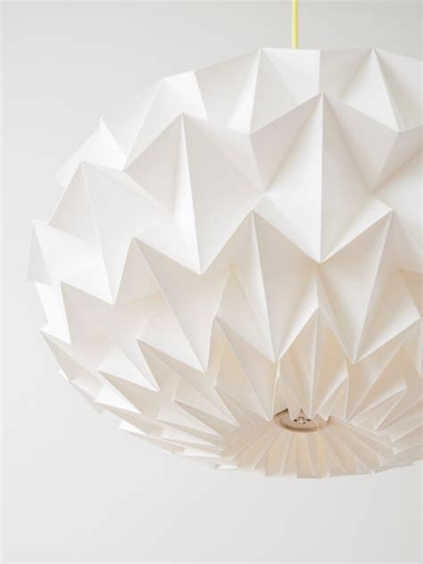origami light shades signature white paper origami lshade size xl by studio