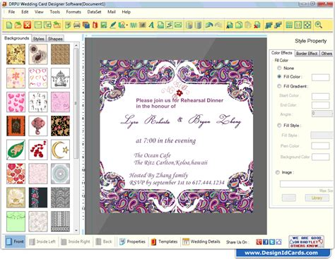 software for cards and invitations wedding card maker software designs printable and scanable