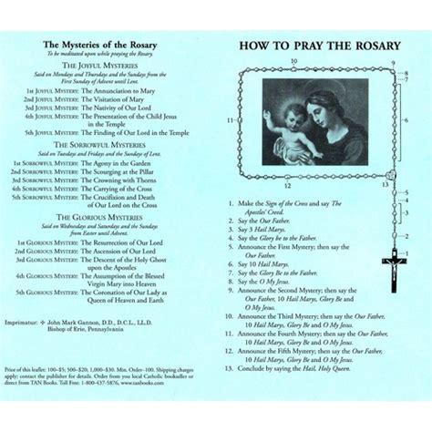 how to read rosary how to say the rosary prayer 100 pack the catholic company