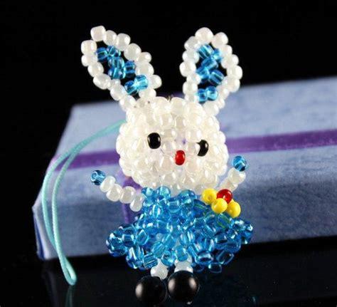 make bead animals 3d animal seed bead rabbit charm kawaii bunny by