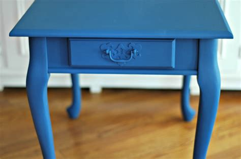 chalk paint navy distressed navy end table restoration writer