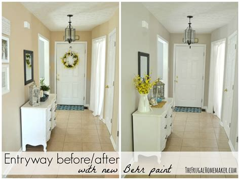 behr paint color greige entryway before and after beige to greige with behr paint