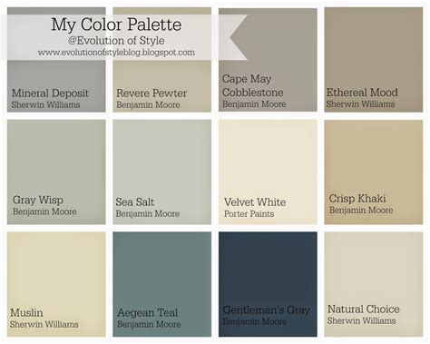 home decorating color palettes whole house color palette evolution of style