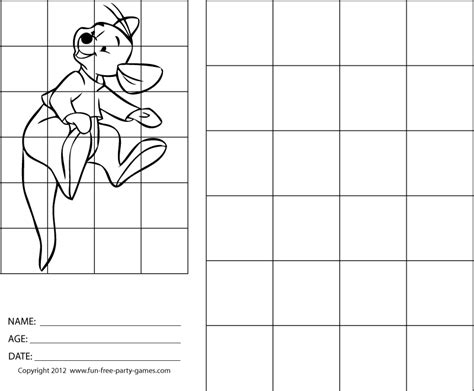 grid drawing drawing with grids winnie the pooh roo bounces on