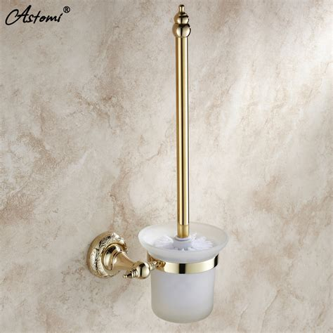 fashion bathroom accessories gold toilet brush set toilet cup fashion bathroom