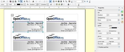 how to make business cards in openoffice creating your own business cards in libreoffice and apache