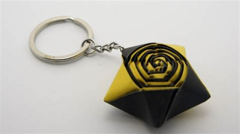 how to make a keychain with how to make an origami keychain