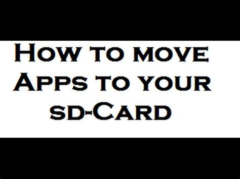 how to make apps to sd card how to move apps to sd card auf android german