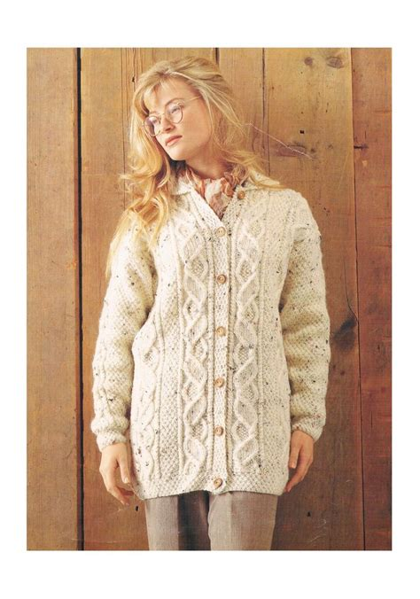 free knitting patterns for coats uk aran cardigan knitting pattern vintage pattern only