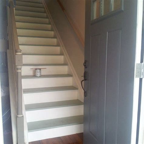 chalk paint stairs 17 best images about staircase and walls going up on