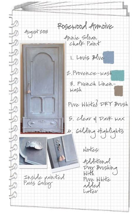 chalk paint process colorways project journal step by step process armoire in