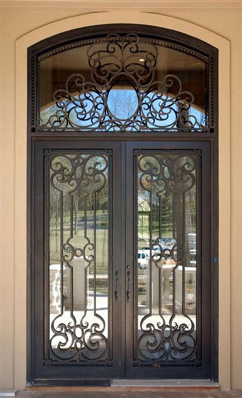 metal front doors for homes with glass 25 best ideas about wrought iron doors on