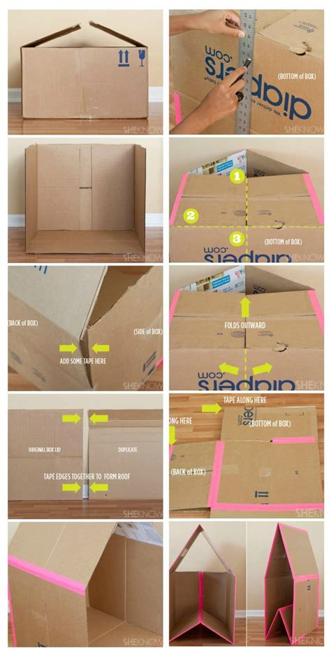 how to make a card board box best 25 cardboard box houses ideas only on