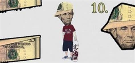origami 5 dollar bill make abe lincoln look like a b boy 5 dollar bill origami