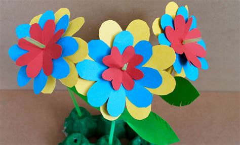 how to make craft paper flowers easy paper craft how to make paper flowers