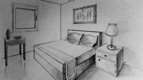 how to draw a bedroom how to draw two point perspective bedroom