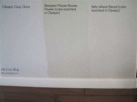 behr paint color closest to revere pewter no flash greige paint wall swatches olympic gray ghost