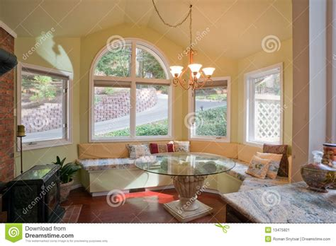 Wood For Benches by Luxury Kitchen Nook With Bay Window Stock Image Image