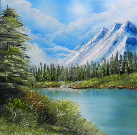 bob ross painting net worth bob ross style by chalkycanvas on deviantart