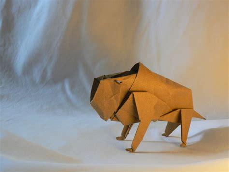Origami Bison By Paperbuffalo On Deviantart