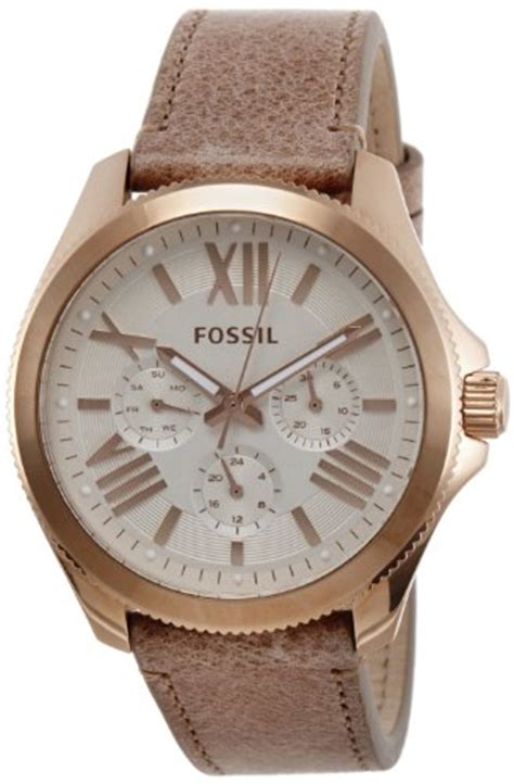 fossil watches with leather bands s watches fossil s am4532 quot cecile quot stainless steel with leather band was