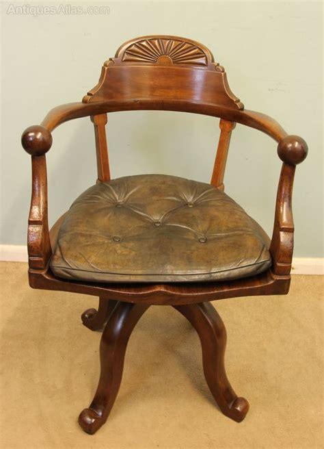 Antique Desk Chairs Swivel by Antique Mahogany Swivel Desk Chair Antiques Atlas